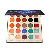 DE'LANCI Lidschatten-Make-up-Palette, 5 Glitter und 20 Matt & Shimmer Lidschatten, hochpigmentierte Make-up-Palette mit Make-up-Spiegel