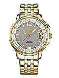 MeisterAnker Armbanduhr Funk Solar Uhr bicolor Edelstahl Gold Silber analog klassisches Design