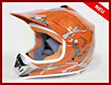 Helm Kinderhelm Motorradhelm Crosshelm Motocrosshelm Sport Orange S