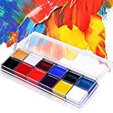 Richoose 12 Colors Bodypainting, Lidschatten Augenschatten Gesicht Körper Malerei Farbe Öl Malerei Kit Kosmetik Fall Make-up Palette-Art Make-up-Set für Cosplay Thanksgiving Day Weihnachts-Party Fancy Dress-Beauty Kosmetik-Tools Geschenk