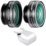 Neewer® 3 In 1 Objektive Set Clip-On 180 Grad Super Fisheye Objektiv + 0.67X Weitwinkel + 10X Makro Objektiv für Apple iPhone 6 plus/6/5/5S/4/4S, iPad Air 2/1, iPad 4/3/2, iPad Mini 3/2/1, Samsung Galaxy S6 Edge/S6/S5/S4/S3/A7/A5, Galaxy Note 4/3/2, Blackberry Bold Touch, Sony Xperia, Motorola Droid und andere Smart Phones Handys(Kein Dunkel Kreis von dem Fisheye-Objektiv)