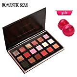 ROMANTIC BEAR 18 Farben Schimmer Matt Mineral Pigment Lidschatten Palette Nude Beauty Make-up