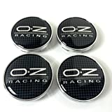 Set of 4 OZ Racing Alloy Wheels Centre Hub Caps 60mm Cover Carbon Effect Wheel Badge O. Z. O-Z Set von 4 OZ Racing Alufelgen Center Radkappen Radkappen Nabendeckel Nabenkappen 60mm Abdeckung Carbon- Effekt Wheel Abzeichen O. Z. O -Z