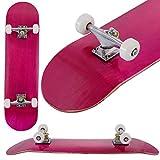 Goplus Skateboard Komplettboard FunboardMinicruiser Holzboard Longboard Farben zur Wahl (Rosa)
