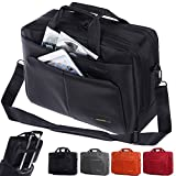 Laptop Tasche, BRINCH 15,6 Zoll Nylon Stil geräumig Multi-Fach Laptop Schultertasche Messenger Bag Handtasche Tablet Aktentasche Umhängetasche für 15 - 15,6 Zoll Laptop / Notebook / Macbook / Tablet Computers,Schwarz