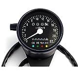 Mini Tacho Km/h Kontrollleuchten für Harley Honda Suzuki Yamaha Chopper Universal