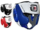 3X Sports Kopfschutz Boxen Kampfsport Boxtraining Kickboxen Sparring Head Guard (Blue, S)