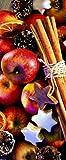 Textilbanner - Thema: Weihnachten - Zimtsterne - 180cmx75cm - Banner zum Hängen & Dekorieren
