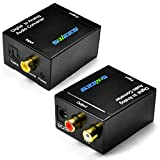 Swees® Digital zu analog Audio Konverter | Wandler/Decoder | Home Entertainment | Neues Modell | Noise Reduction Design | Coaxial SPDIF/digital optisch Toslink zu analogem Composite rechts links Audio | Vollmetall | Schwarz