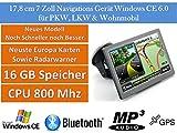 17,8cm 7' Zoll,16GB Speicher, PKW,LKW,Wohnmobil,GPS Navigationsgerät,Navigation, Neuste Karten sowie Radarwarner , Erweiterbarer Speicher, Fahrspurassistent, Geschwindigkeitsanzeige