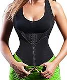 Damen Waist Trainer Shaper Vest Sport Body Cincher Korsett Taille Corsage mit Adjustable Strap (2XL(Fit 33.8-37 Inch Waist), Black (3-5 Days Delivery))
