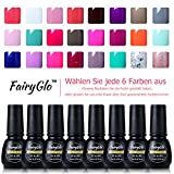 UV nagellack set FairyGlo soak off gellack farblack Pure Series Nail Gel Polish Nagelgel Any color (6xStück)