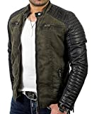 Red Bridge Jacke Herren Biker Kunst- Lederjacke R-41451W Redbridge (XL, Khaki)