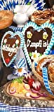 Textilbanner - Thema: Oktoberfest - O' zapft is / Lebkuchenherz - 180cmx90cm - Banner zum Hängen & Dekorieren