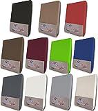 NatureMark Topper Spannbetttuch, Spannbettlaken in allen Größen und vielen Farben (180 x 200 bis 200 x 200 cm, weiss)