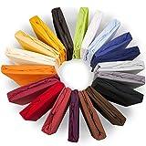 Royal Spannbettlaken 140x200 - 160x220 cm, für Wasserbetten & Boxspringbetten geeignetes Jersey-Stretch Spannbetttuch Mako-Baumwolle mit Elastan aqua-textil Bettlaken 1000874 dunkelblau