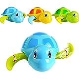 Rokoo 3 Stück Float Pool Wind Up Baby Bad Spielzeug Schwimmen Badewanne Badewanne Nette Schildkröte für Kinder Jungen Mädchen