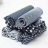 KING DO WAY 7 Stueck verschiedene Marine Blau serie Baumwollstoff vorgestanzten baumwolle quilt stoff viertel 19,7 '' suqare Dunkel Blau 50x50cm