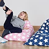 LOUNGE PUG®, Kinder Sitzsack Gaming, Kindersessel, Druck Pink Star