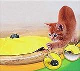 4 Geschwindigkeiten Katzenspielzeug Undercover Maus Stoff Interaktive Elektronische Kätzchen Pet Play W/gelb Shirt