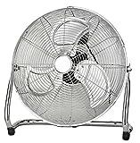 Ø45cm Vollmetall Windmaschine Bodenventilator Klimagerät Luftkühler Ventilator (100Watt, Luftkühler, Chrom Metall Ventilator)