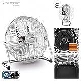 TROTEC Bodenventilator / Windmaschine TVM 14 | 70 Watt Leistung | Durchmesser 35 cm | 3 Geschwindigkeitsstufen | Chrom-Design | inkl. Tragegriff