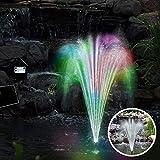 Solarpumpe Teichpumpe LED mit Akku Gartenteich Pumpe Springbrunnen Gartenbrunnen Wasserspiel