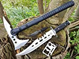 *4er Canada-Set* Tomahawk tactical M48-S Beil / Camping / Axe / Wurfaxt + Ranger Survival Jagd-Messer + Beimesser + Survival-Card