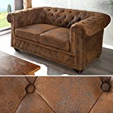 Invicta Interior 17109 Chesterfield Sofa 2-er, Antik Look
