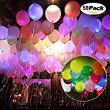30 Stück LED Ballon Moon Mood® LED-Licht Glowing Luftballons für Hochzeit Dekoration Raum Party Kommunion Geburtstag Weihnachten Meeting Color-50pcs