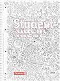 Brunnen 1067427 Notizblock / Collegeblock Student Zenart (A4, liniert Lineatur 27, 90 g/m², 80 Blatt)