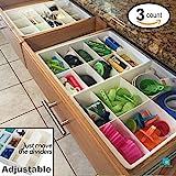 Uncluttered Designs Verstellbare Schubfächer Trennfächer Für Aufbewahrung & Ordnung In Schubladen (3er Pack)