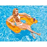 Intex Erwachsene N Sit 'n Float, Transparent/Green/Orange, 152 x 99 cm