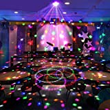 Wonsung 18W LED magic ball LED DMX lighting 6-colors crystal light Disco DJ Stage Lighting Colorful LED Light, Sound Activated LED Rainbow Projector RGB LED Light Sound Activated, Apply Lighting For DJ Disco House Party Hotel Stage Office Camping Field Etc, Lighting For Halloween And Christmas