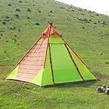 WolfWise 3-4 Personen Familienzelt, Professionelles Gruppenzelt Trekkingzelt, für Camping/ Wandern/ Outdoor, mit Tragetasche, Wasserdicht