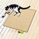 Floori Sisal Kratzteppich | Naturfaser: nachhaltig und umweltfreundlich | Kratzmatte für die Krallenpflege Ihrer Katze | Natur, 50x50cm