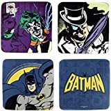 original DC Comics BATMAN Kork Untersetzer Set 4tlg mit Joker, Pinguin und Batman Logo Motiven