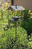 Vogeltränke Vogelbad Vogelbecken Wassertränke Tränke Wasserschale Stecker Dunkel-Braun