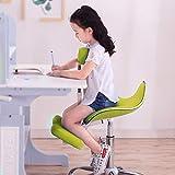 Kniestuhl QIQIDEDIAN Ergonomischer Bürostuhl Computer Stuhl, Hohe Elastischer Schwamm, for Kinder Ab 1,1 M Zu 1,75 M (Color : Blue, Size : with Pedals)