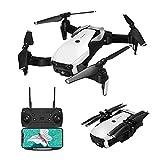 Drone EACHINE E511 avec caméra 1080P HD WiFi FPV transmission en direct, quadricoptère RC télécommandé par application, 2,4 GHz 6 axes 4 canaux, maintien en hauteur, flip 3D, vol sur la trajectoire de vol, drone pliant pour débutants (blanc)