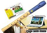 VoggenreiterBlockflöte aus Holz & Kunststoff für Kinder ab 6 Jahre und Anfänger inkl.Flute Master(Lernsoftware App)-deutscheGriffweise & blauer Flötenkopf