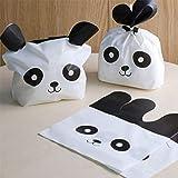 Idiytip 50 Pcs Panda Candy Beutel Treat Beutel Sweet Cookie Biscuit Beutel Party Geschenkverpackung Verpackung Beutel Party Favors Supplies