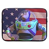 Hdadwy Toy Story Buzz Lightyear America Flag Laptop-Ärmeltasche Tablet-Aktentasche Ultraportable...
