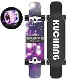 LKCAK Verschleißfestes Anti-Rutsch-und Anti-Vibrations-Flash-Rad-Skateboard, Geeignet für Jugendliche, Anfänger, Mädchen, Jungen, Kinder, Erwachsene Skateboards (Farbe : Green)