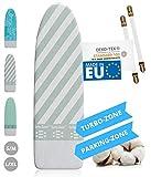 Innovativer Bgelbrettbezug fr Dampfbgeleisen I Made IN EU I Bgeltischbezug mit Turbo Zone, Parking Zone und Spanner fr Bgelbrett-Bezug