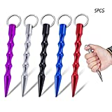 Fmlkic 5 Stück Selbstverteidigung Schlüsselanhänger, Waffe Teenager Mann Safe Schlüsselanhänger, Aluminium Frauen Anti-Wolf-Werkzeug für Outdoor-Überlebensnotfall
