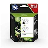 HP 303 Multipack Original Druckerpatronen für HP ENVY Photo 6230, 7130, 7830, Schwarz, Cyan, Magenta, Gelb, Standard