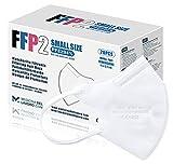 20 FFP2/KN95 Maske CE Zertifiziert Kleine Größe Small, Medizinische Mask mit 4 Lagige Masken ohne Ventil, Staub- und Partikelschutzmaske, Atemschutzmaske mit Hoher BFE-Filtereffizienz≥95|20 Stück