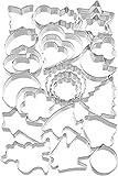Kaiser Ausstechformen Weihnachten 25-teilig, Keksausstecher, Plätzchen Ausstecher unterschiedliche Größen, Cookie Cutter