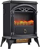 GuoYq Elektrische Kaminwand, 1500W 3D-Dreifarben-Simulationsflammen-Wohnzimmer-Warmluftheizung, Elektrischer Freistehender Kamin, Geeignet für Indoor-Wohn- Und Schlafzimmerheizung